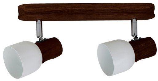 SPOTLIGHT lampa sufitowa dwu punktowa SVANTJE z drewna bukowego kolor orzech 2239276