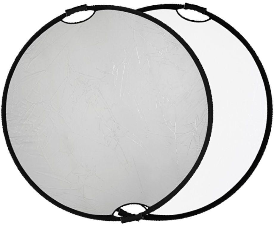 Quadralite Blenda z uchwytem srebrno-biała 110cm