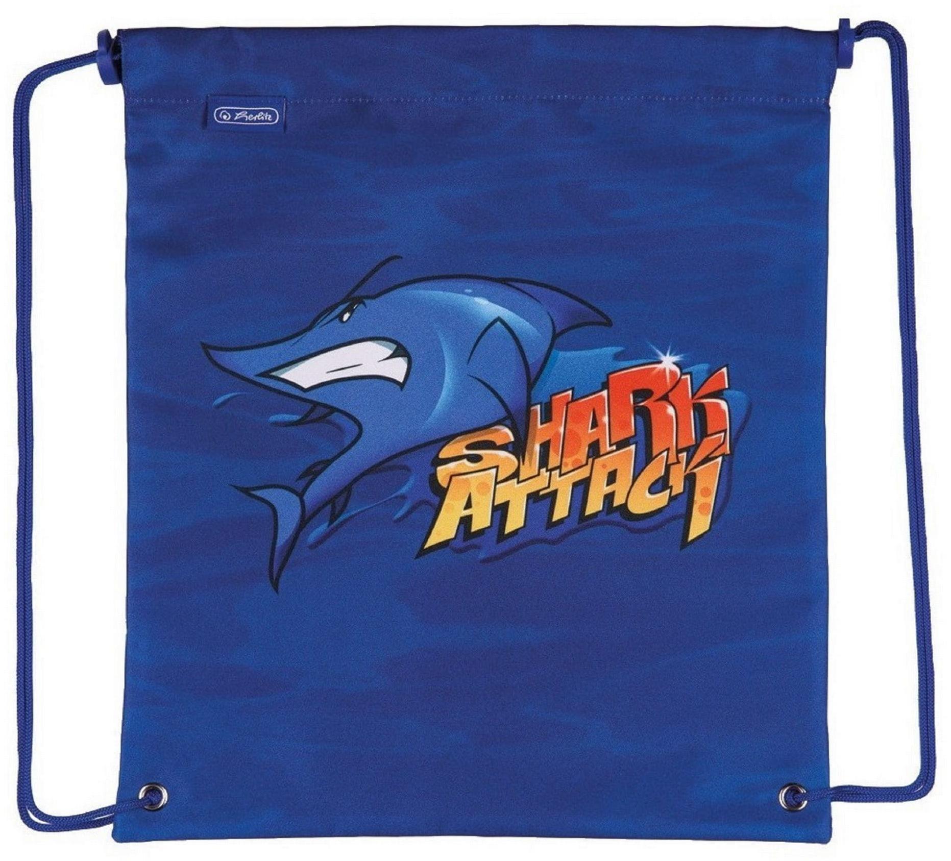 Worek szkolny na obuwie Herlitz Shark Rekin