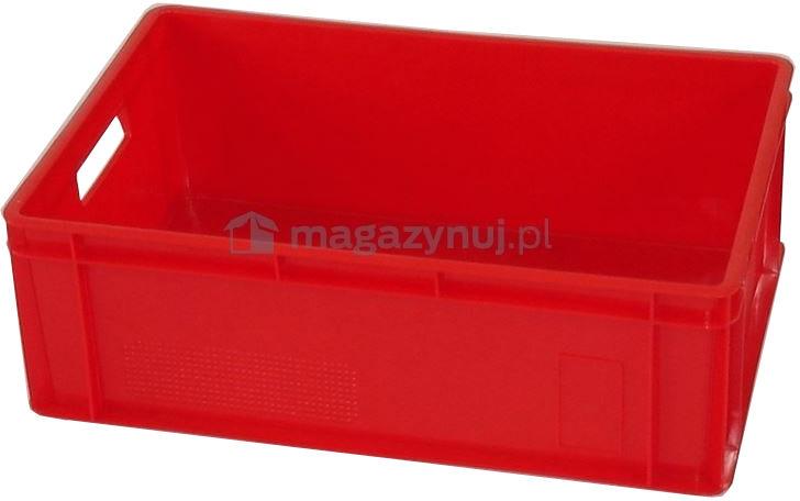 Pojemnik transportowy EURO 200, wym. 600 x 400 x 200 mm (Kolor czerwony)