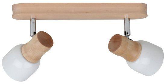 SPOTLIGHT lampa sufitowa dwu punktowa SVANTJE z drewna brzozowego 2239260