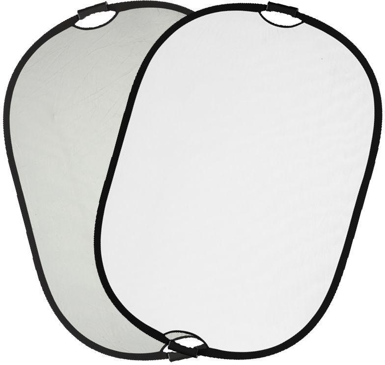 Quadralite Blenda z uchwytem srebrno-biała 90x120