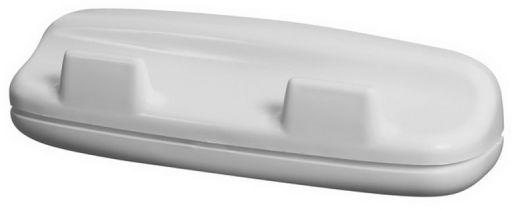 Wieszak łazienkowy podwójny Bisk OCEANIC plastik biały