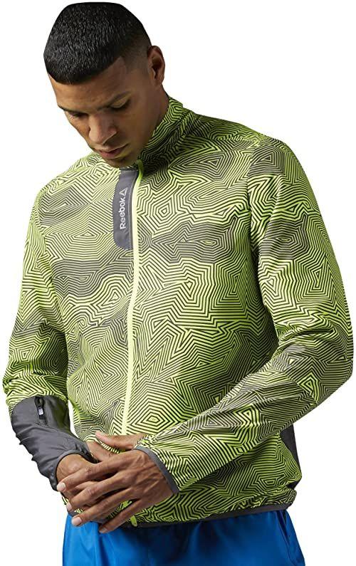 Reebok Kurtka męska Running Essentials Woven Jacket Grau (Ash grey) XL