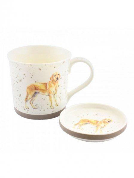 Kubek Golden Labrador ze spodeczkiem - GRAY''S