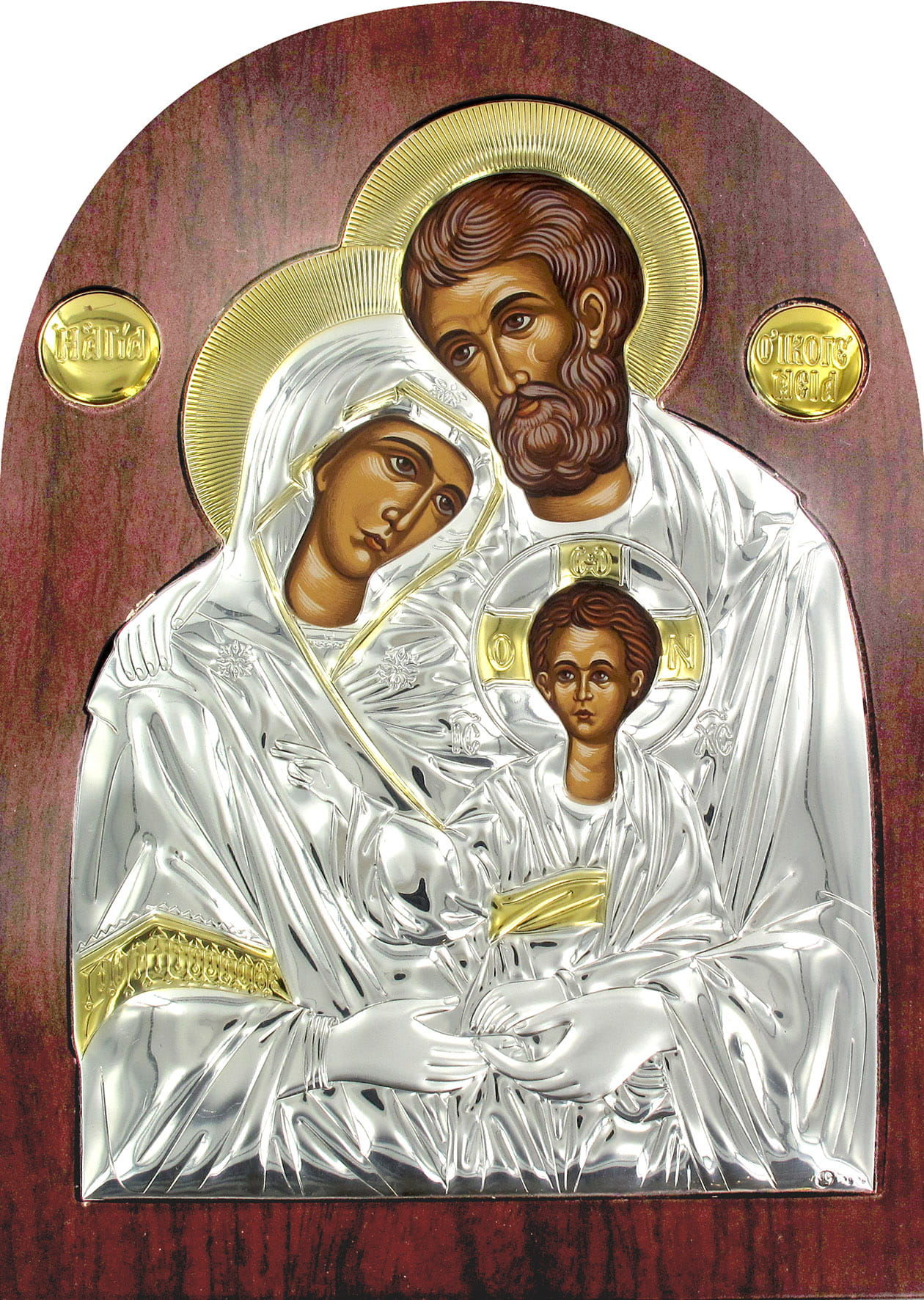 Ikona srebrna Święta Rodzina