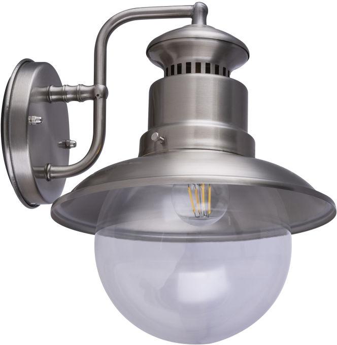 Globo SELLA 3272S kinkiet lampa ścienna zewnętrzna stal nierdzewna 1xE27 21,5cm IP44