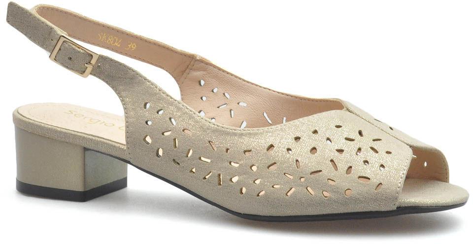 Sandały Sergio Leone SK804 Beżowe błysk