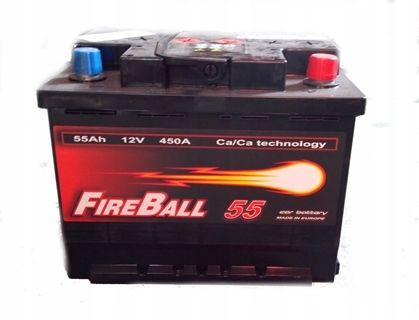 Akumulator FIRE BALL 55Ah 450A Prawy+