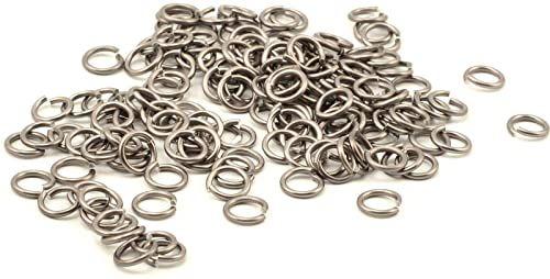 Vaessen Creative Aluminiowy pierścień giętki, 10 mm, szary, 135 sztuk, aluminium, antracyt, 1 x 1 x 0,2 cm, 135 sztuk