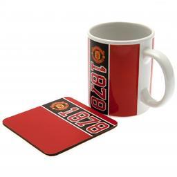 Manchester United - kubek z podstawką