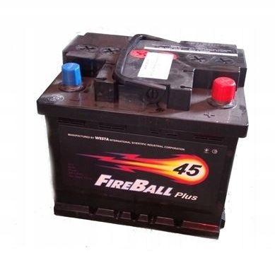 Akumulator FIRE BALL 45Ah 390A Prawy+