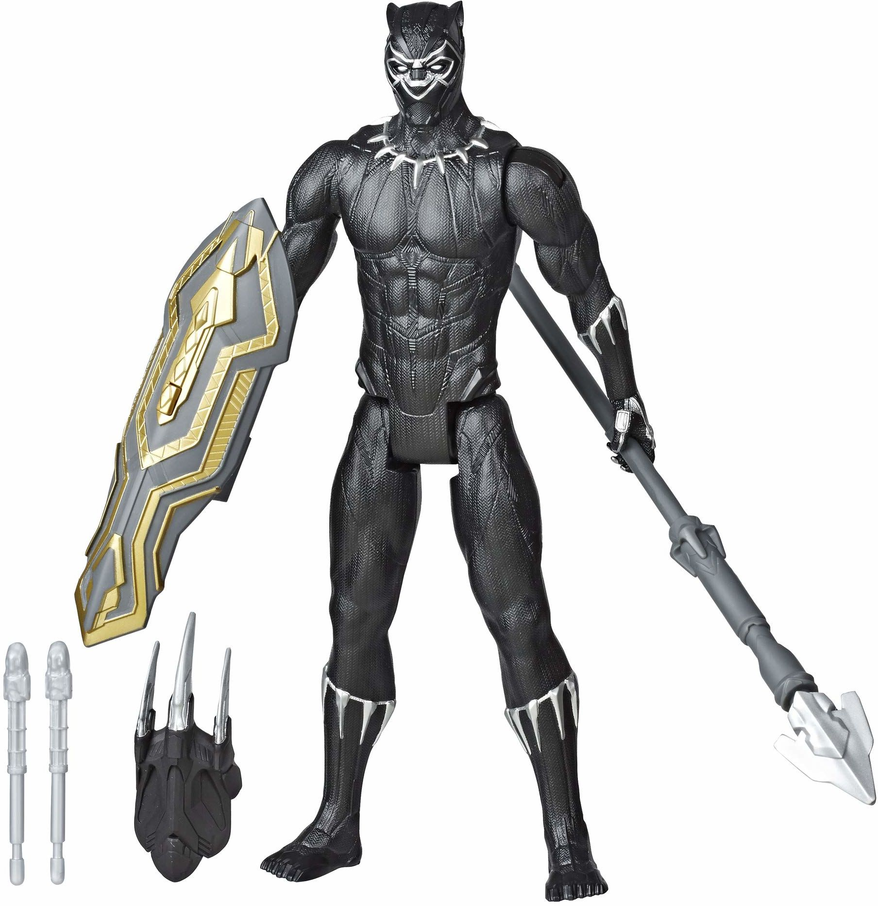 Marvel Avengers Titan Hero Series Black Panther Action Figure (12 inches, Multicolor)