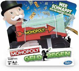 Hasbro Gaming E3037100 Monopoly gra pieniężna, gra rodzinna z tacką na pieniądze, wielokolorowa
