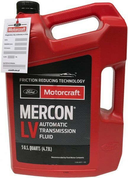 Olej automatycznej skrzyni biegów Motorcraft MERCON LV 4,73 l Ford