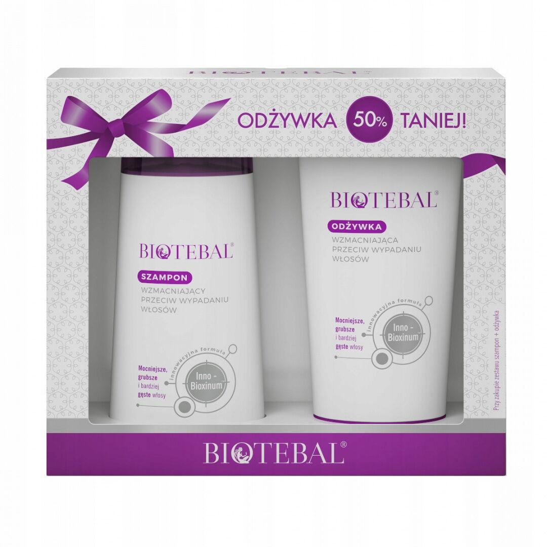 BIOTEBAL zestaw szampon + odżywka do włosów 2x200