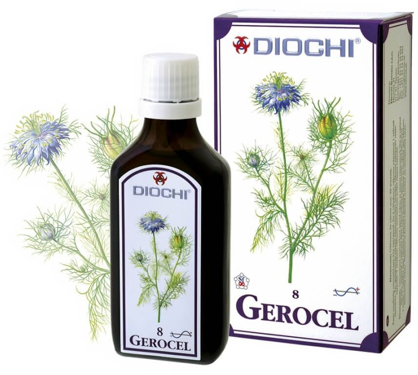 Gerocel Płyn 50 ml (harmonizuje meridian serca, osierdzia, płuc, śledziony, trzustki, ogrzewacza) Diochi