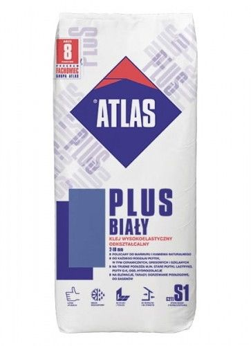 Klej wysokoelastyczny ATLAS PLUS biały 25 kg