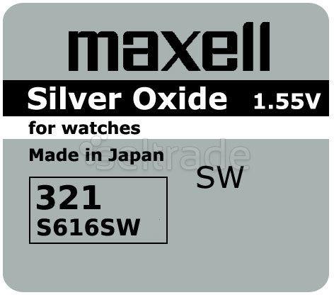 Bateria srebrowa Maxell 321 / SR 616 SW