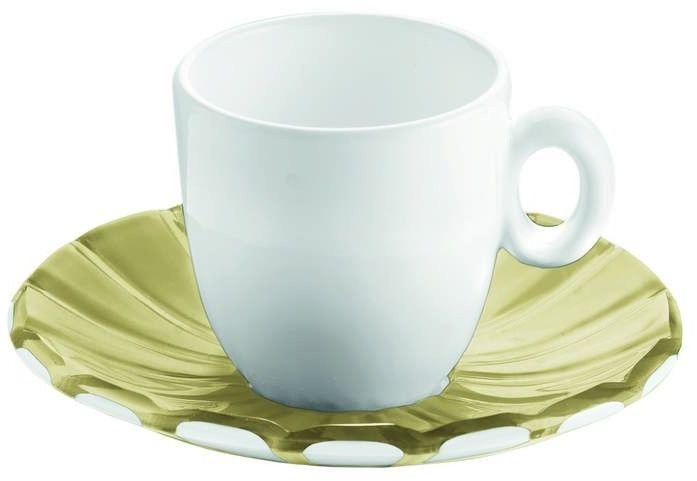 Guzzini - grace - kpl. 2 filiżanek espresso, piaskowy