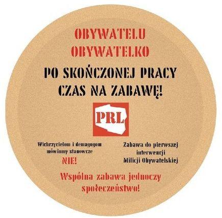 Talerzyki urodzinowe papierowe PRL 18cm 6 sztuk TP18-PRL