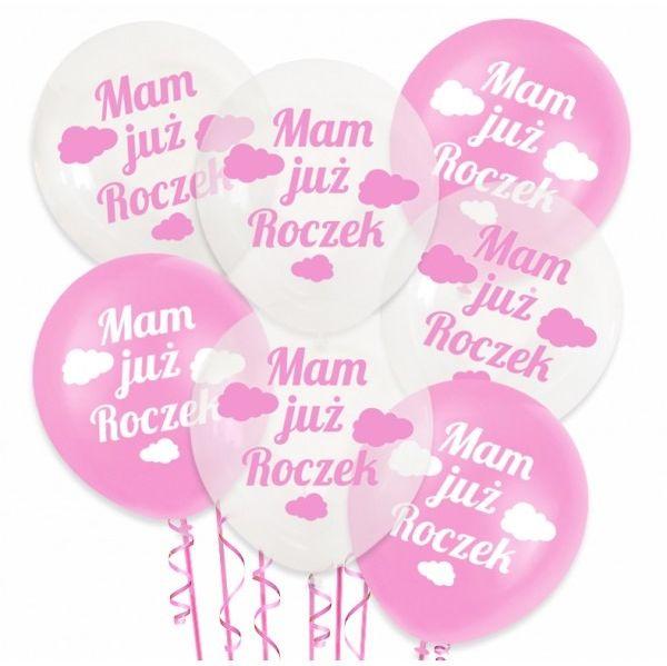 Zestaw balonów na Roczek dziewczynki 20 sztuk ZB13