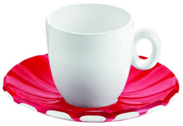 Guzzini - grace - kpl. 2 filiżanek espresso,czerwone