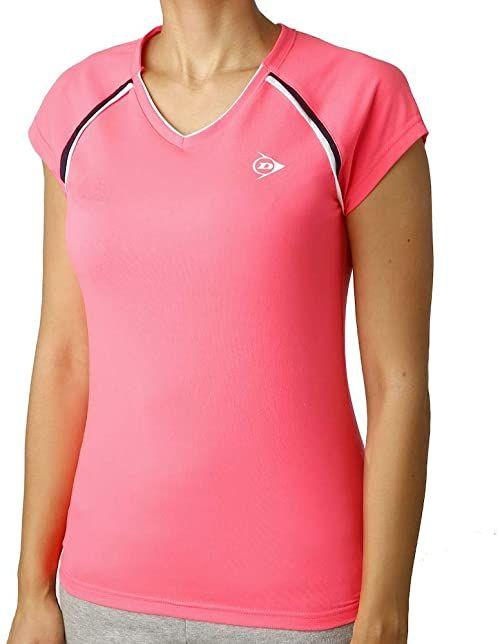 Dunlop damska Crew T-Shirt różowy, czarny, XS odzież wierzchnia