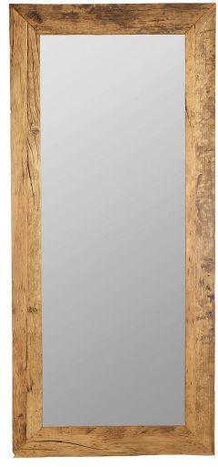 House Doctor PURE NATURE Lustro Ścienne w Drewnianej Ramie 95x210 cm