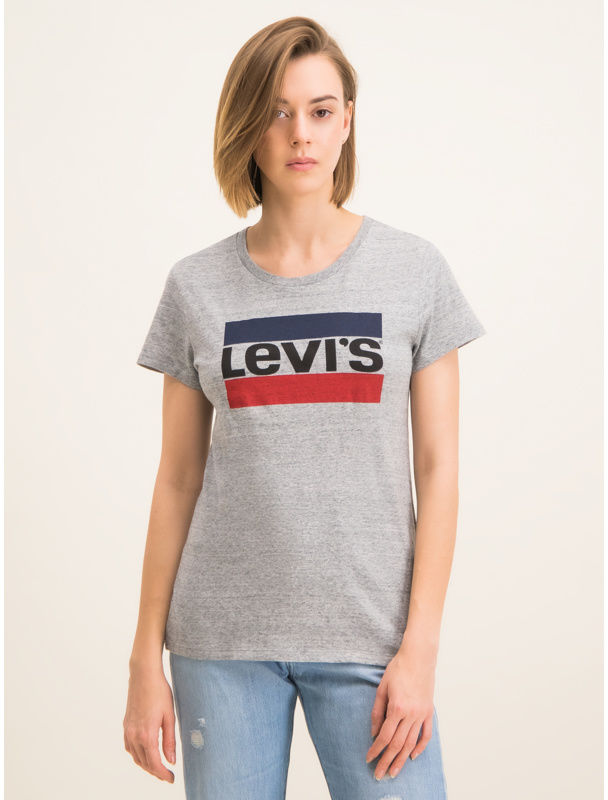 Levi''s  T-Shirt The Perfect Graphic Tee 17369-0303 Szary Regular Fit