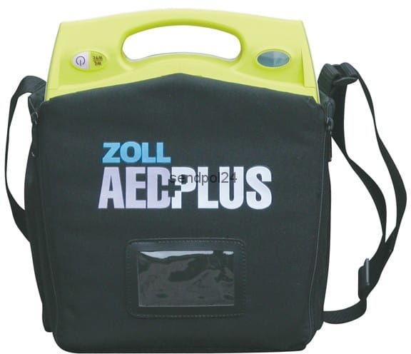 Defibrylator Zoll AED Plus z torbą transportową, bateriami, elektrodą CPR-D