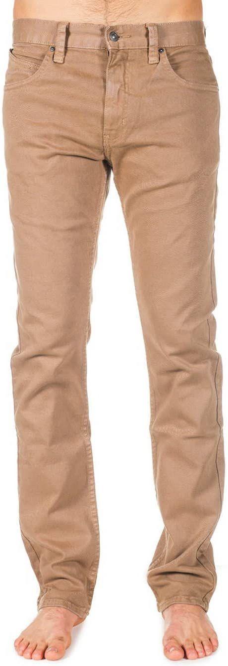 Rip Curl Męskie jeansy Straight Colour Bomb zielony zielony - Khaki S