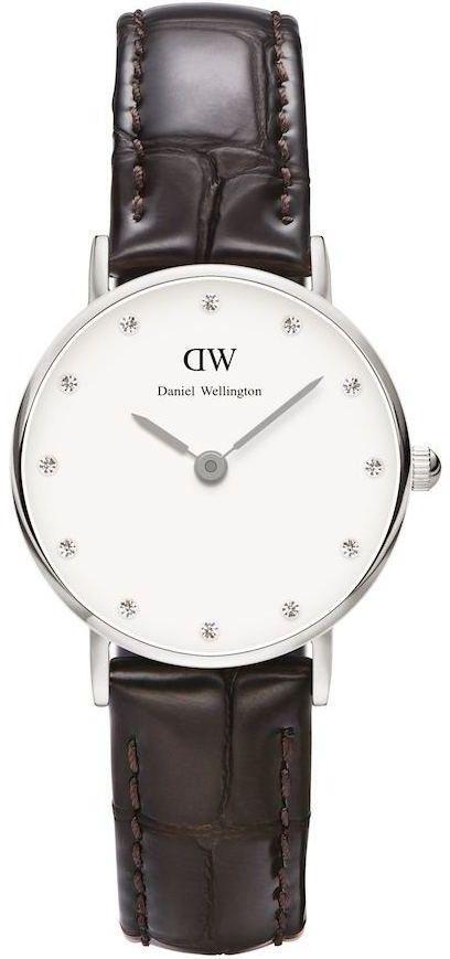 DANIEL WELLINGTON CLASSY YORK LADY SILVER STEEL 0922DW / DW00100069-DARMOWA DOSTAWA-GWARANCJA-VICTORYTIME.PL
