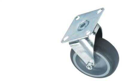 Kółko do wózka Splast Ø 75 mm z płytką mocującą