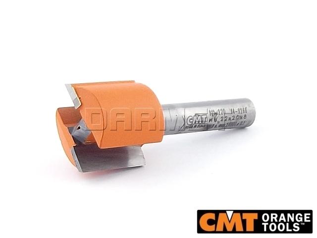 Frez prosty HM do drewna, średnica 22 mm, długość robocza 20 mm - CMT (911.220.11)