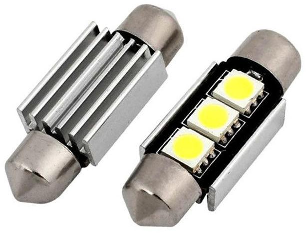 2x Nowe LED Żarówki Żarówka LED CANBUS 3 SMD 36 mm Volvo S40 V50 Xc60 XC70 XC90 V60 S80