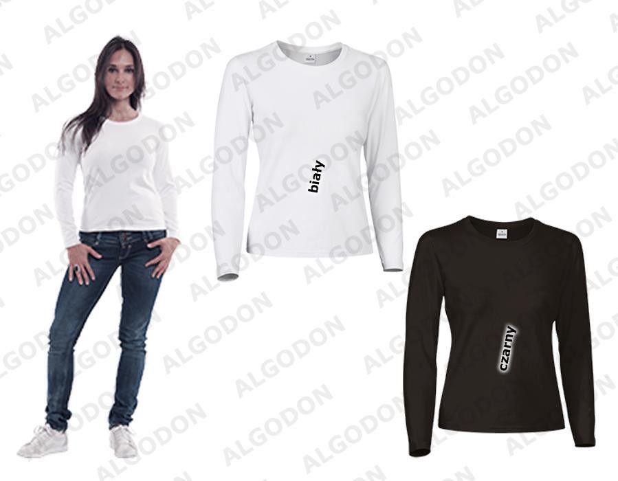 Koszulka bluzka damska długi rękaw FUNKY