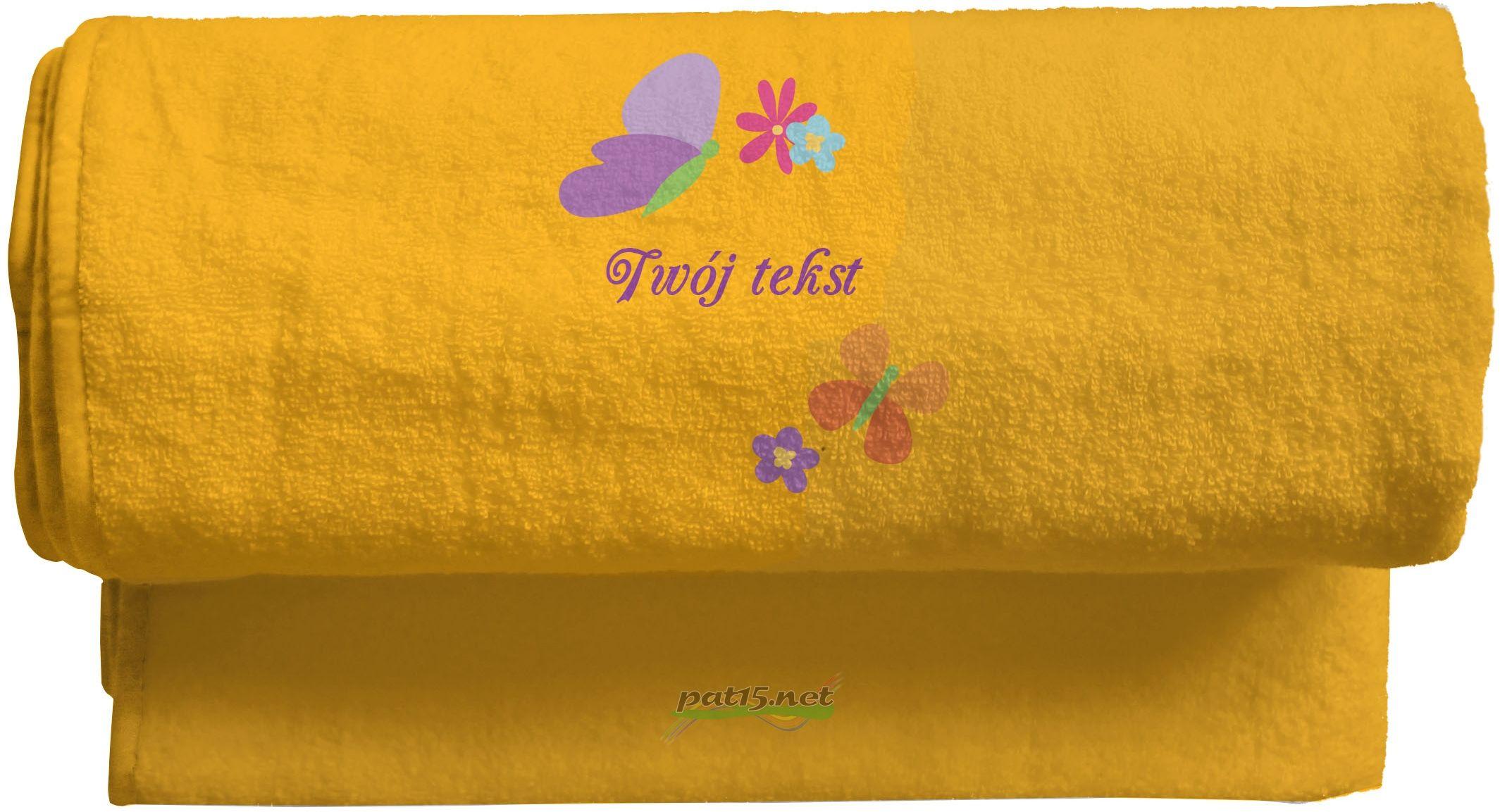 Duży Ręcznik 140x70 z haftem + tekst - Wzór 03