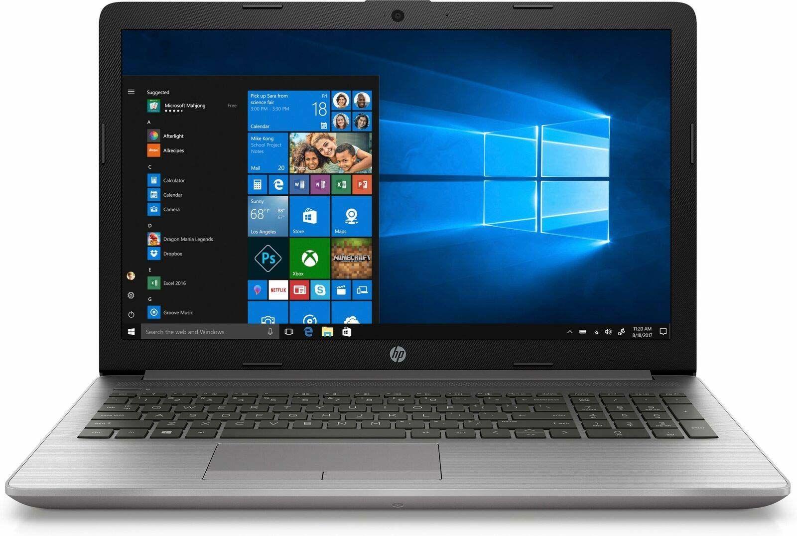 """HP 255 G7 15.6"""" FHD Laptop (AMD Ryzen 5 3500U, 8GB RAM, 256GB SSD, DVD-RW, Windows 10 Home) Srebrny QWERTY"""
