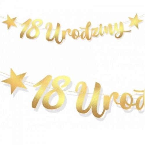 Baner na 1, 8 lub 18 urodziny, złoty