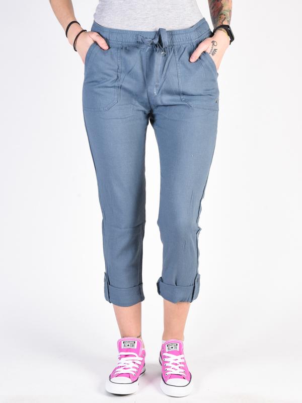 Roxy SYMPHONY LOVER NEW BLUE MIRAGE HEATHER spodnie lniane kobiety - XS