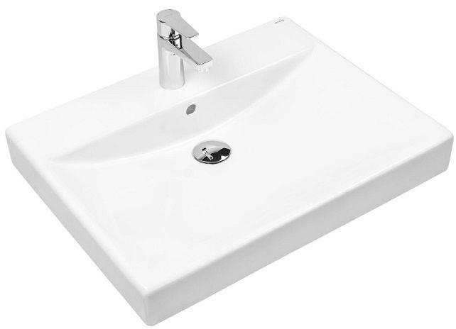 Oltens Hofsa umywalka 80x46 cm nablatowa z powłoką SmartClean 41806000