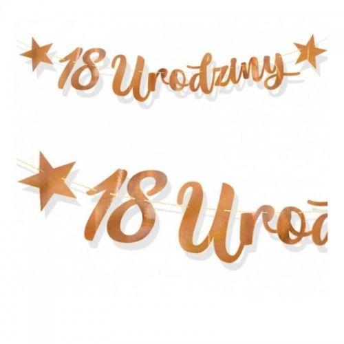 Baner na 1, 8 lub 18 urodziny, różowe złoto