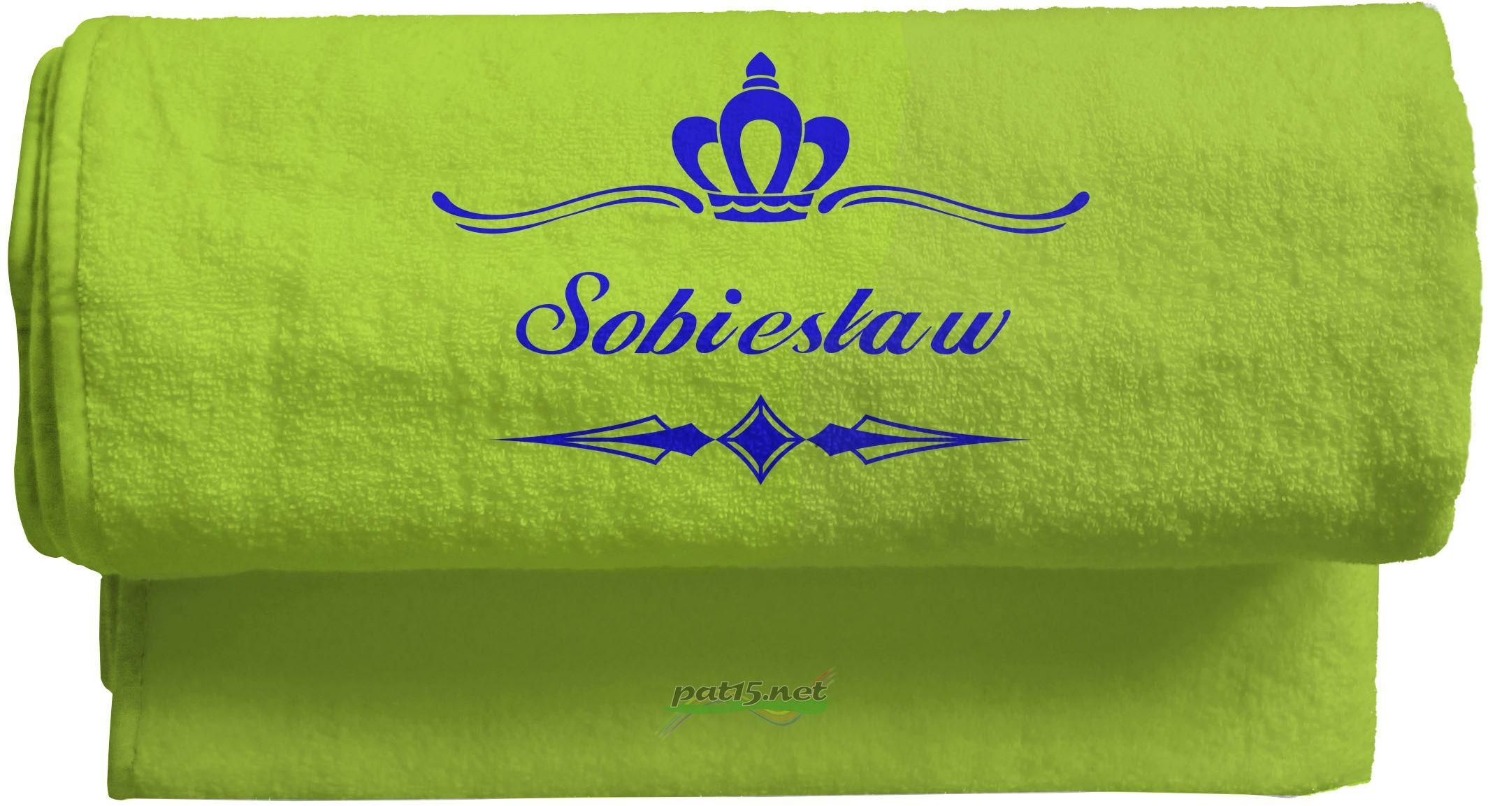 Duży Ręcznik 140x70 z haftem + tekst - Wzór 06