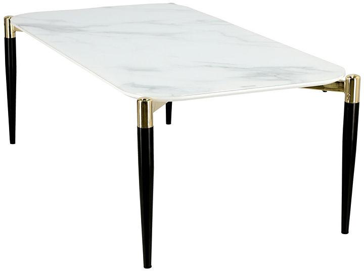 Biały stolik kawowy marmurowy - Isterio