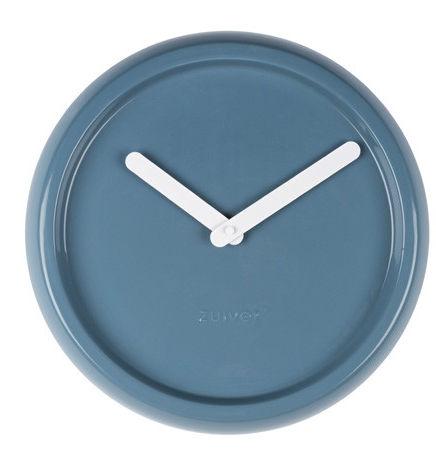WYSYŁKA 24H! Zegar CERAMIC TIME BLUE 8500023 Zuiver ceramiczny porcelanowy zegar ścienny w kolorze niebieskim