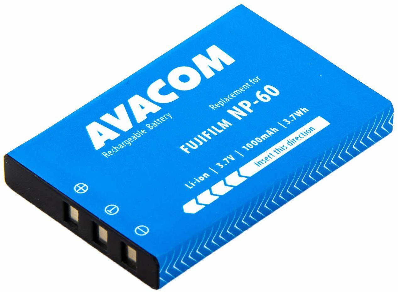 Fujifilm NP-60, Kodak KLIC-5000, Olympus LI-20B, Samsung SLB-1037, SLB-1137 Li-Ion 3,7 V 1000 mAh 3,7 Wh