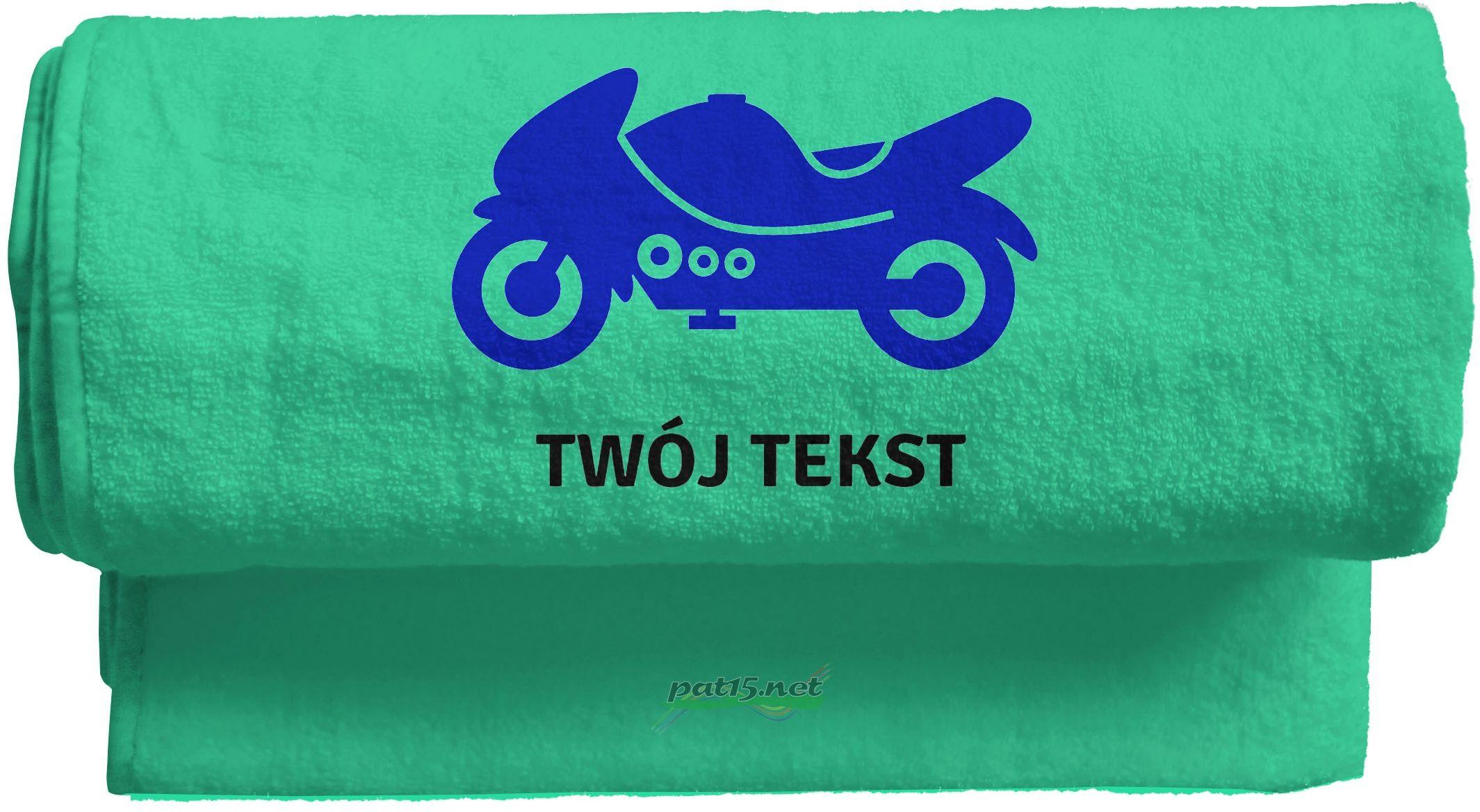 Duży Ręcznik 140x70 z haftem + tekst - Wzór 11