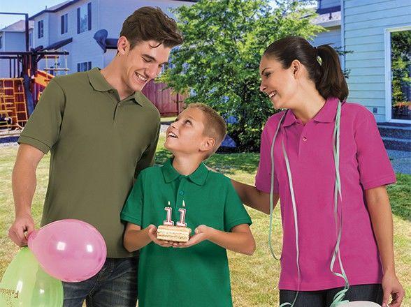 Koszulka polo bawełniana krótki rękaw Valento Patrol dziecięca męska unisex mundurek szkolny