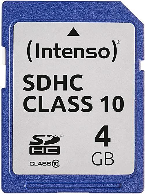Intenso 4 GB SDHC - 4 GB SDHC karta pamięci (20 MB/s, klasa 10), niebieska